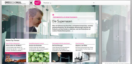 dreisechsnull - Telekom magazine for business clients